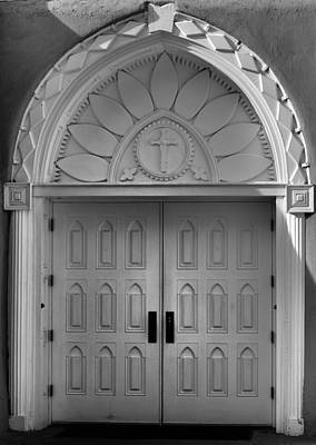 Photograph - Mission Door San Francisco De Asis. by Nadalyn Larsen