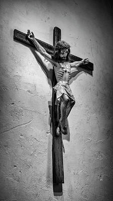 Mission Espada Crucifix Art Print by Stephen Stookey