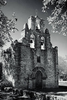 Stone Buildings Photograph - Mission Espada -- Infrared by Stephen Stookey