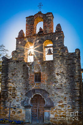 San Antonio Photograph - Mission Espada by Inge Johnsson
