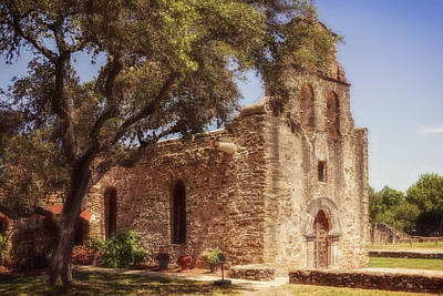 San Antonio Photograph - Mission Espada by Joan Carroll