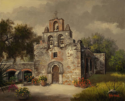 Art Print featuring the painting Mission Espada by Kyle Wood