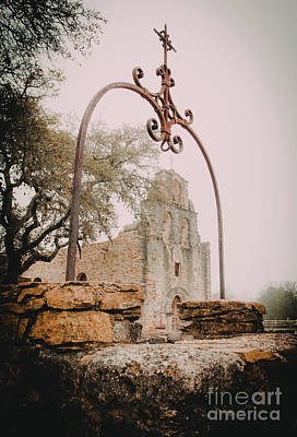 Photograph - Mission Espada Sunrise by Iris Greenwell