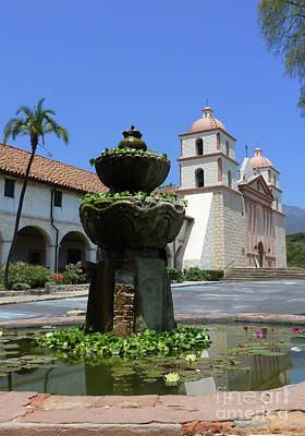 Photograph - Mission Fountain by Methune Hively