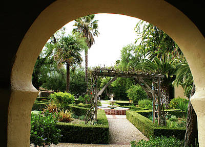 Photograph - Mission Garden Santa Ynez by Gary Brandes
