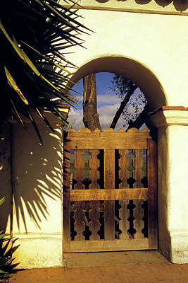 Photograph - Mission Gate - San Juan Batista by Gary Brandes