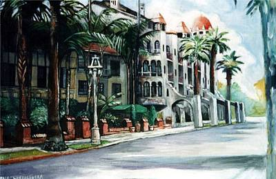 Mission Inn - Riverside- California Original by Paul Weerasekera