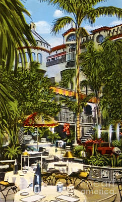 Moody Trees - Mission Inn Spanish Patio 1940s by Sad Hill - Bizarre Los Angeles Archive