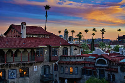 Photograph - Mission Inn Sunset by Kyle Hanson