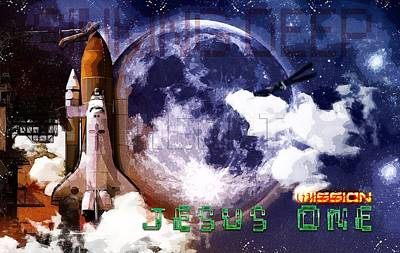 Digital Art - Mission Jesus One by Payet Emmanuel