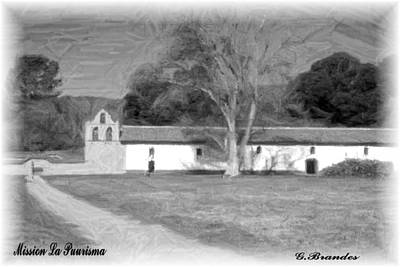 Photograph - Mission La Purisma by Gary Brandes