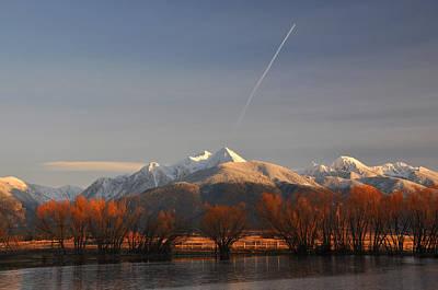 Photograph - Mission Mountains Fall Montana by Braden Moran