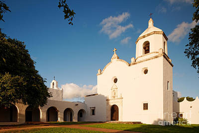 Mission Nuestra Senora Del Espiritu Santo De Zuniga At Sunset - Goliad Coastal Bend Texas Art Print