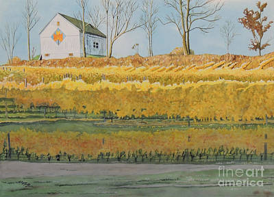 Painting - Mission Peninsula Gold by LeAnne Sowa