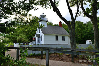 Photograph - Mission Point Lighthouse #2 by Amy Lucid