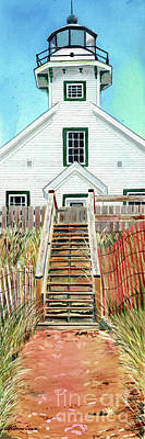 Painting - Mission Point Lighthouse by LeAnne Sowa