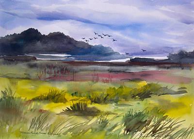 Carmel Mission Painting - Mission Ranch - Carmel by Naomi E Heid