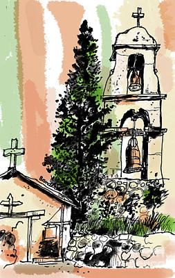 Painting - Mission San Antonio De Pala by Terry Banderas