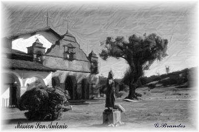 Photograph - Mission San Antonio by Gary Brandes