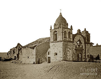 Photograph - Mission San Carlos Borromeo Del Rio Carmelo 1882 by California Views Mr Pat Hathaway Archives