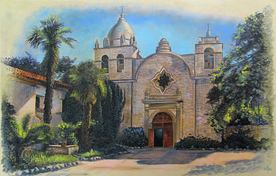 Painting - Mission San Carlos In Carmel By The Sea by David Bader