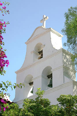 Photograph - Mission San Diego Bell Tower by Art Block Collections
