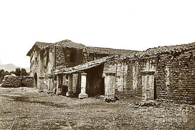 Photograph - Mission San Fernando Rey, Established Sept 8, 1797, Cal. by California Views Mr Pat Hathaway Archives