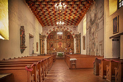 Art Print featuring the photograph Mission San Francisco De Asis Interior by Susan Rissi Tregoning