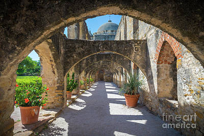 Photograph - Mission San Jose Arched Walkway by Inge Johnsson