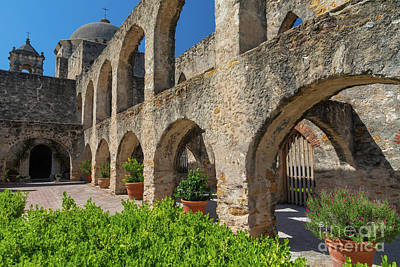 Photograph - Mission San Jose Arches by Inge Johnsson