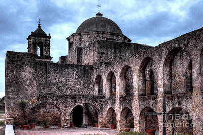 Photograph - Mission San Jose Arches by Wayne Moran