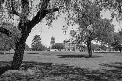 Photograph - Mission San Jose Black And White 2 - San Antonio - Texas - Usa  by Gregory Ballos