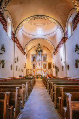 Mannequin Dresses Rights Managed Images - MIssion San Jose Chapel Glow Royalty-Free Image by Joan Carroll