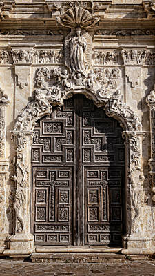Virgin Guadalupe Photograph - Mission San Jose Door - 1 by Stephen Stookey