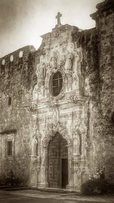 Door Photograph - Mission San Jose Facade by Joan Carroll