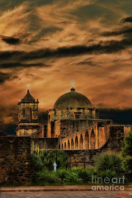 Photograph - Mission San Jose In San Antonio Texas  by Blake Richards