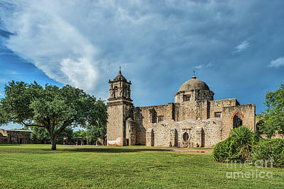 Architectural Photograph - Mission San Jose In San Antonio by Tod and Cynthia Grubbs