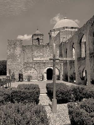 Religious Artist Photograph - Mission San Jose, Monochrome by Gordon Beck