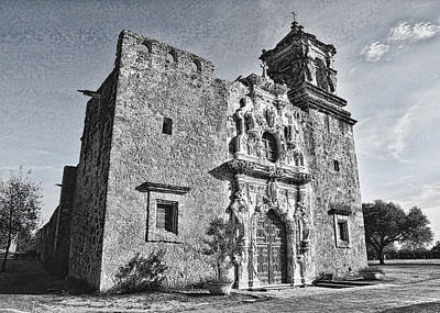 Stone Buildings Photograph - Mission San Jose - No 2 by Stephen Stookey