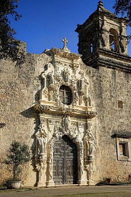 Virgin Guadalupe Photograph - Mission San Jose - San Antonio by Stephen Stookey