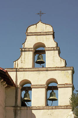 Mission San Juan Bautista Photograph - Mission San Juan Bautista Bell Wall by Art Block Collections
