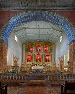 Photograph - Mission San Juan Bautista Interior by Susan Rissi Tregoning
