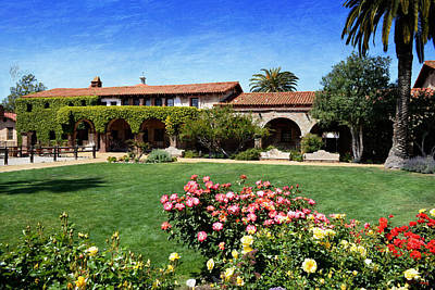Photograph - Mission San Juan Capistrano - Across The Courtyard by Glenn McCarthy Art and Photography