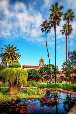 Photograph - Mission San Juan Capistrano Courtyard Ca_7r2_dsc3547_17-01-17 by Greg Kluempers