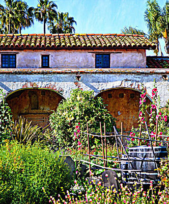 Photograph - Mission San Juan Capistrano - Garden Arches by Glenn McCarthy Art and Photography