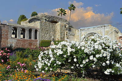 Photograph - Mission San Juan Capistrano - Gardens And Ruins by Glenn McCarthy Art and Photography
