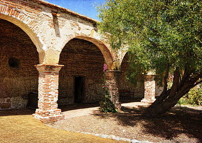 Photograph - Mission San Juan Capistrano - Quiet Walkway by Glenn McCarthy Art and Photography