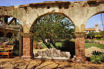 Photograph - Mission San Juan Capistrano - Through The Arches by Glenn McCarthy Art and Photography