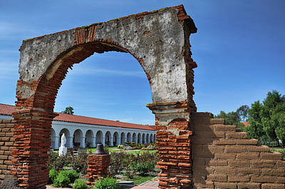 Photograph - Mission San Luis Rey Archway by Kyle Hanson