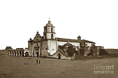 Photograph - Mission San Luis Rey De Francia, 1880. by California Views Archives Mr Pat Hathaway Archives